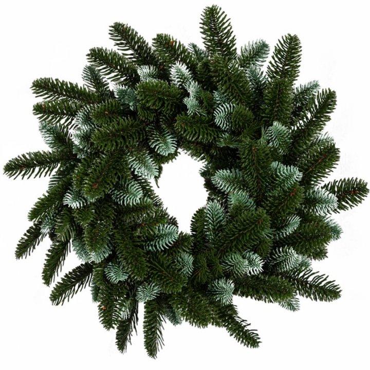 Венок Литой Новогодний Смарагдовый 40 см