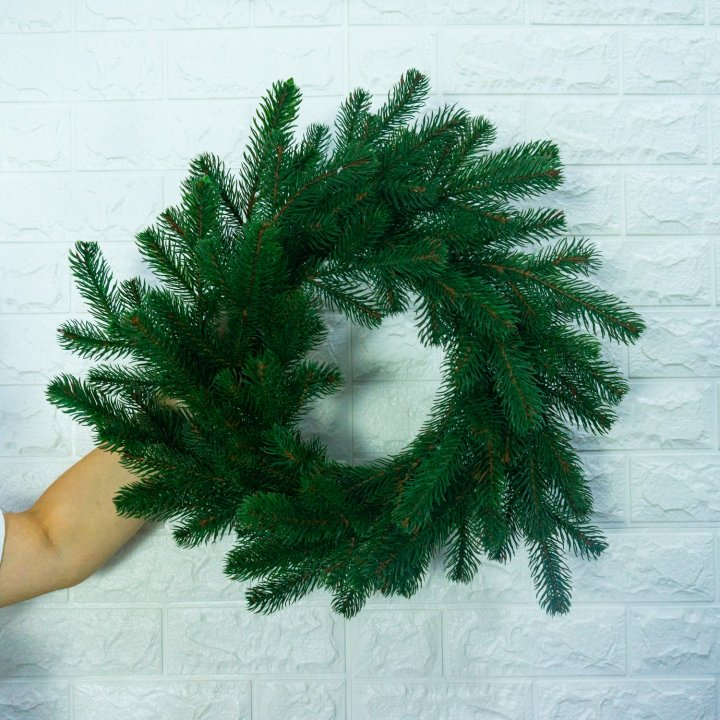 Венок Литый Ковалевский Зеленый 45 см
