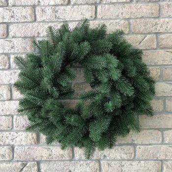Новогодний Литый Венок Зеленый 60 см