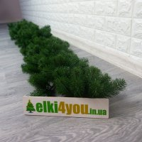 Гірлянда Зелена новорічна лита 220 см