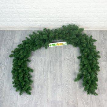 Гирлянда Зеленая новогодняя литая 140 см