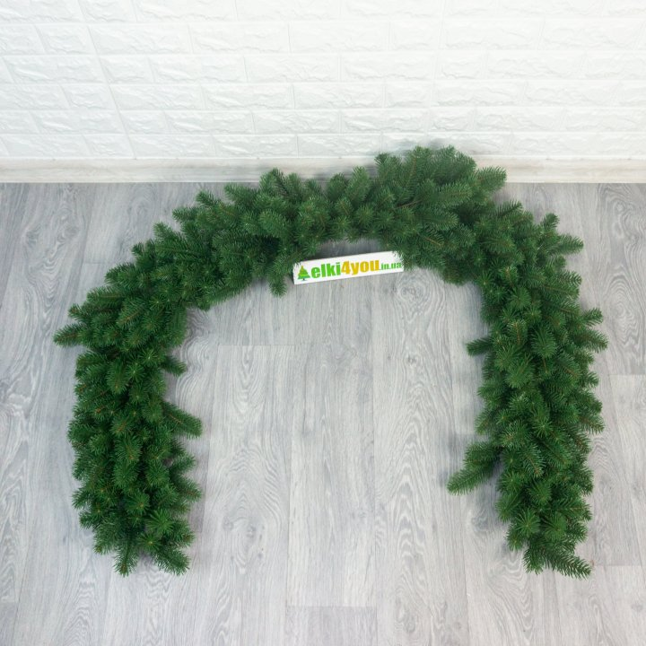 Гірлянда Зелена новорічна лита 140 см