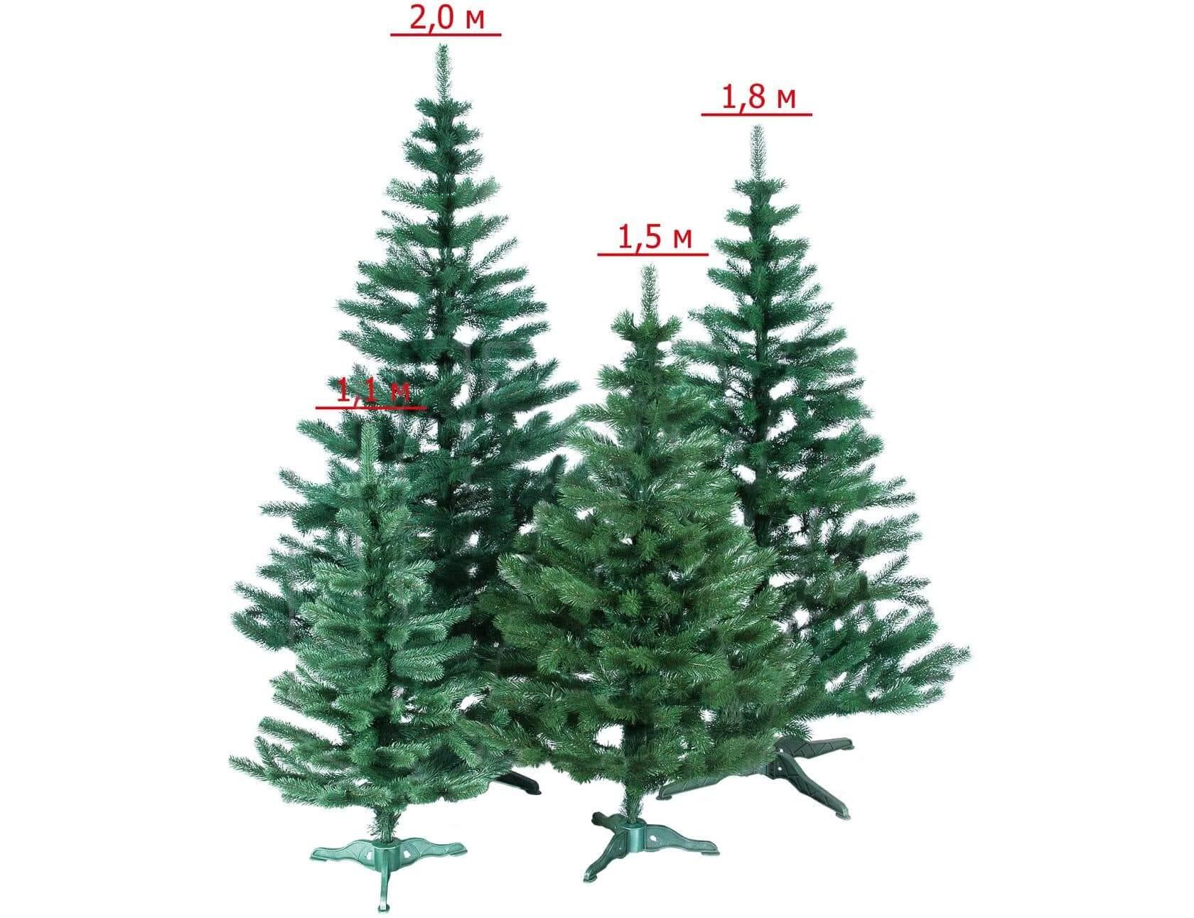Искусственные елки разной высоты